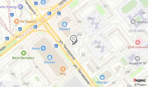 Засоня. Схема проезда в Челябинске
