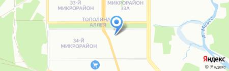 Одинэскин на карте Челябинска