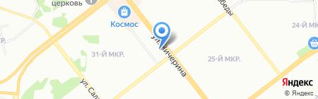 Подсолнухи на карте Челябинска