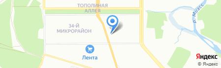 Хуторок на карте Челябинска