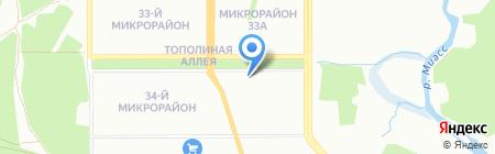 Поларсол Восток на карте Челябинска