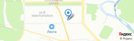 Серозак на карте Челябинска