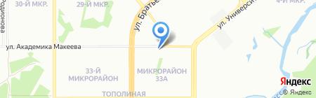 Ультрафиолетто на карте Челябинска