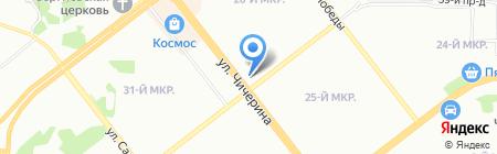 Услада-Асония на карте Челябинска