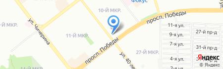 Карапузик на карте Челябинска