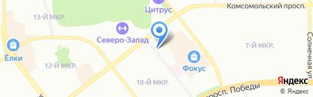 Дубок на карте Челябинска