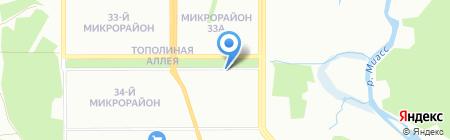 Исток на карте Челябинска
