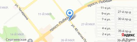 Светлячок на карте Челябинска