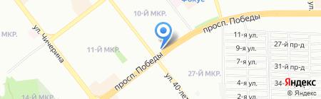 Подземная автопарковка на карте Челябинска