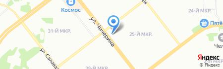 Фирст на карте Челябинска