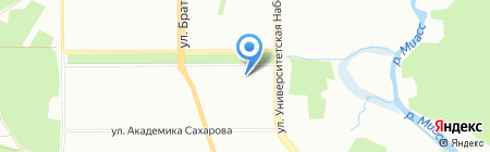 Детская городская поликлиника №1 на карте Челябинска