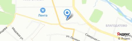 Волшебный замок на Тополиной аллее на карте Челябинска