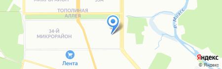 Детский сад №35 на карте Челябинска