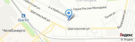 Лимон на карте Челябинска