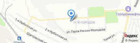 Славный на карте Челябинска
