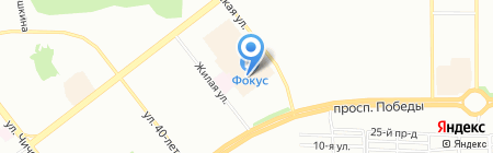 Мичиган на карте Челябинска