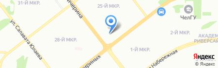 Городская охрана на карте Челябинска