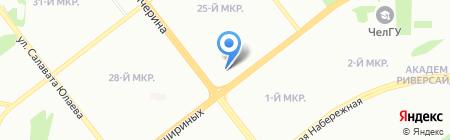 Пегас на карте Челябинска