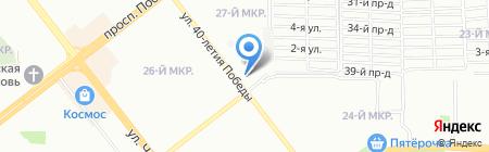 Цветочный дуэт на карте Челябинска