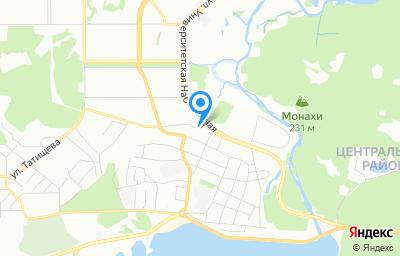 Местоположение на карте пункта техосмотра по адресу г Челябинск, ул Тополиная, д 5