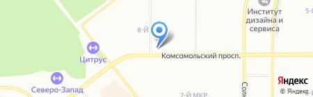 Уральский банк Сбербанка России на карте Челябинска