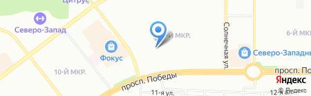 Умка на карте Челябинска