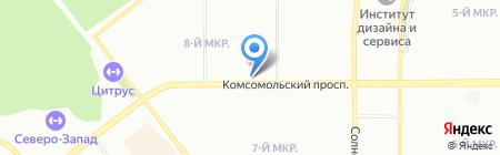 Мясной магазин на Комсомольском проспекте на карте Челябинска