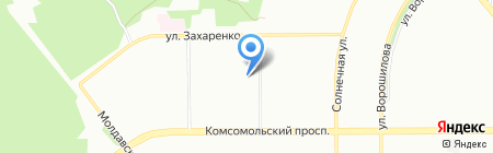 Шадэ на карте Челябинска