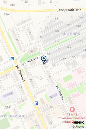МАГАЗИН АВТОМОБИЛЬНЫЙ на карте Еманжелинска