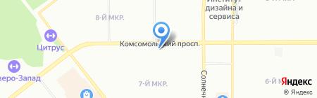 Искусница на карте Челябинска