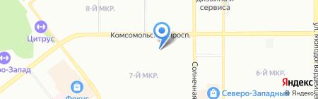 Тоси-Боси на карте Челябинска