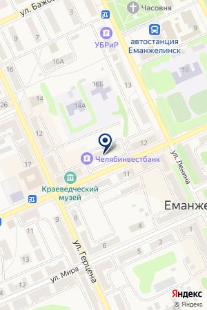 САЛОН СОТОВОЙ СВЯЗИ АРСЕНАЛ на карте Еманжелинска