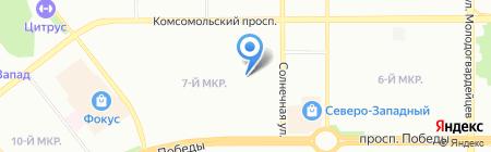 Рыжая пружина на карте Челябинска
