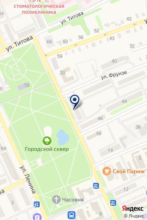 САЛОН КРАСОТЫ SITY-ШИК (СИТИ-ШИК) на карте Еманжелинска