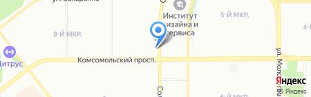 Сытая семейка на карте Челябинска
