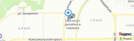 Юриан на карте Челябинска