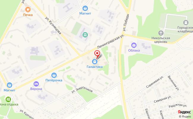 Карта расположения пункта доставки Westfalika в городе Заречный