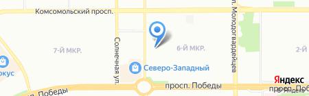 Санхоум на карте Челябинска