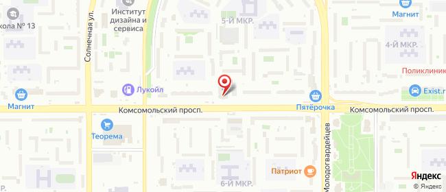 Карта расположения пункта доставки СИТИЛИНК в городе Челябинск