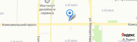 Рич на карте Челябинска