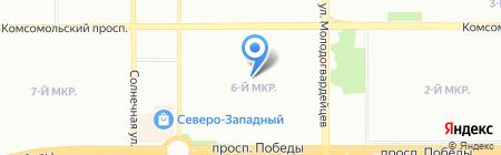 Средняя общеобразовательная школа №115 на карте Челябинска