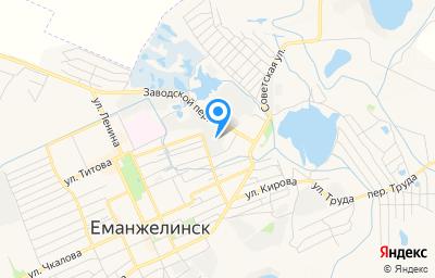 Местоположение на карте пункта техосмотра по адресу Челябинская обл, г Еманжелинск, ул Почтовая, д 14