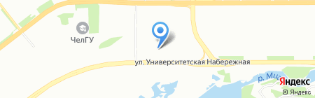 АКАДЕМ Riverside на карте Челябинска