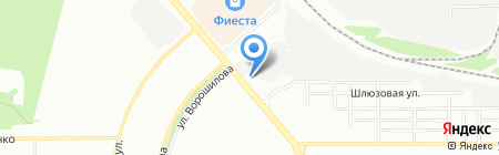 Кировский на карте Челябинска