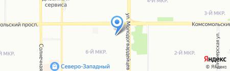 Макси на карте Челябинска
