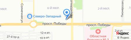 Алвик на карте Челябинска