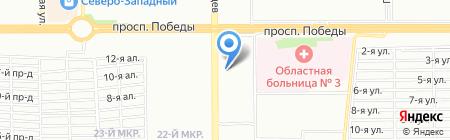 Рыжий кот на карте Челябинска