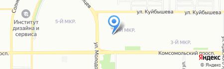 Урал-Сити на карте Челябинска