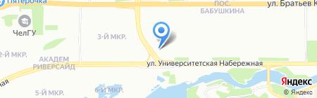 Акцепт на карте Челябинска