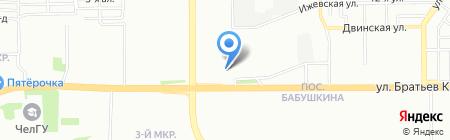Фамиан на карте Челябинска